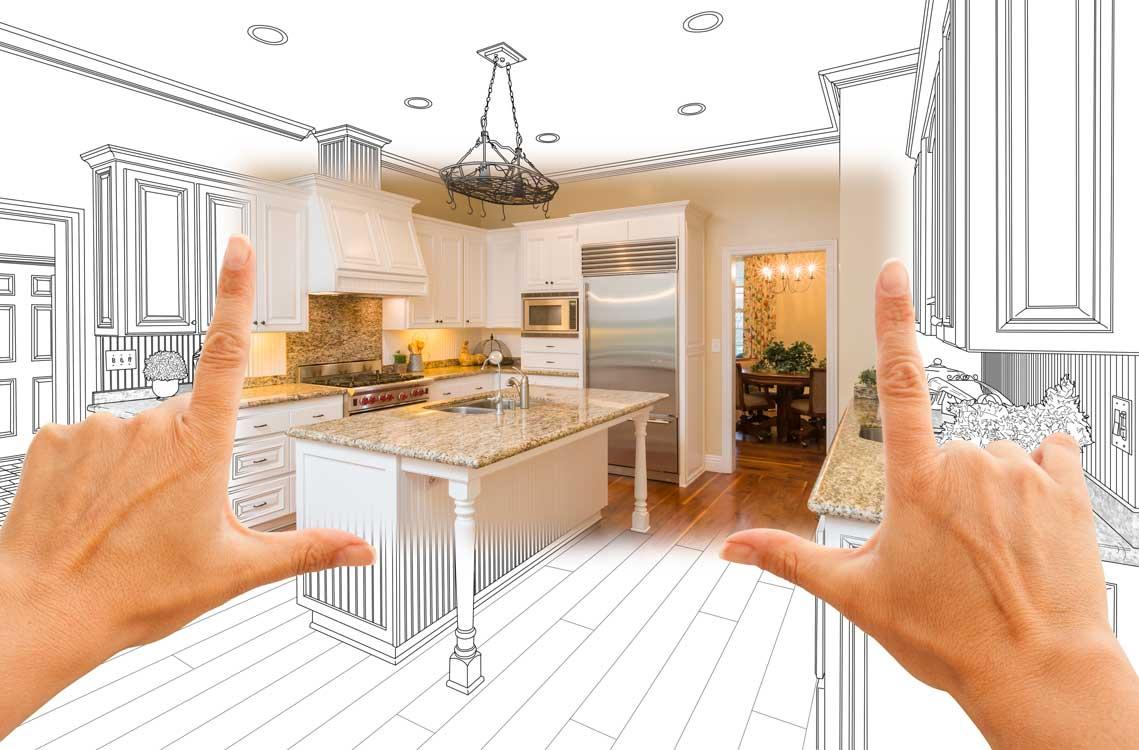 A brand new modern home kitchen